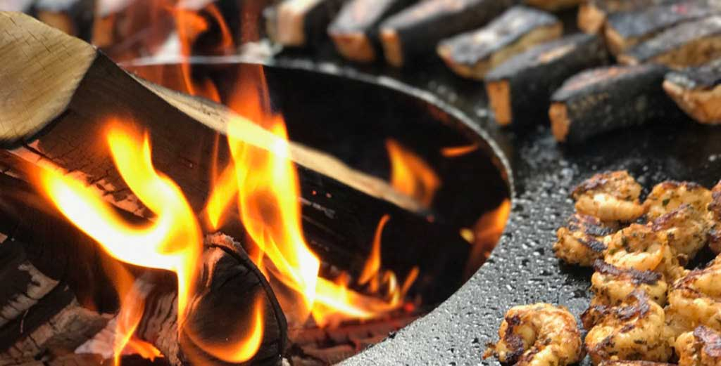 SOS BBQ Flamme Holz Grill