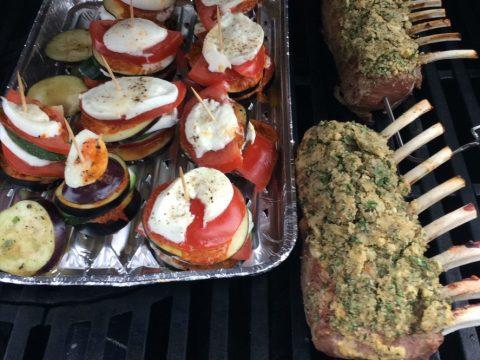 Lamm und Gemüse Grill SOS BBQ
