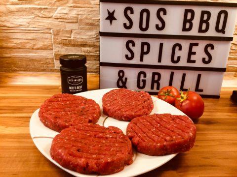 SOS BBQ Spices & Grill Burger Patties